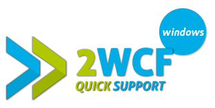 2WCF Quick Support Windows